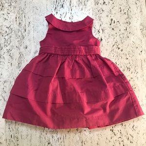 Janie & Jack holiday dress cranberry sz 6-12